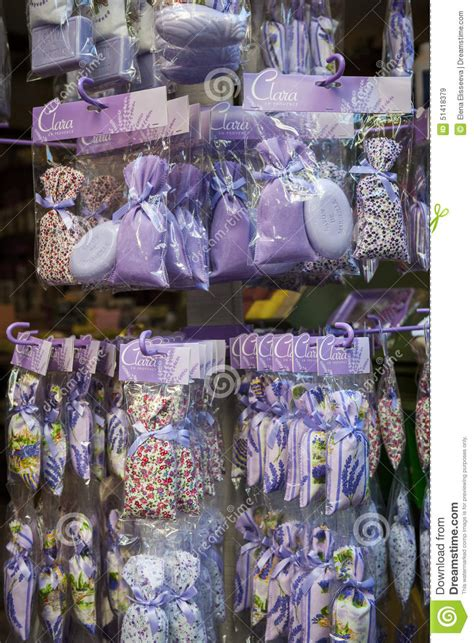 Lavender Products In French Souvenir Shop Editorial Stock