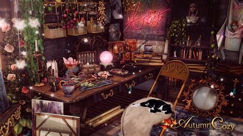 WITCH'S ROOM AMBIENCE: Bubbling Cauldron, Potions