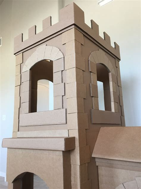 A Kid's Dream Cardboard Castle Made Out of Boxes | Brandon