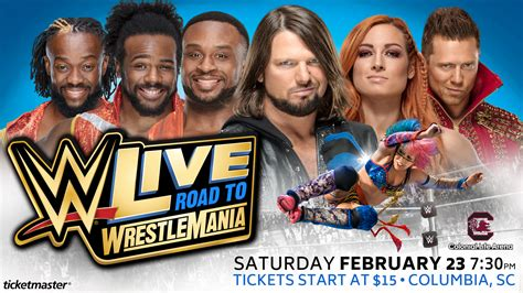 WWE LIVE Road To Wrestlemania Giveaway - ABC Columbia