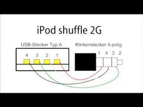 2nd gen ipod shuffle sync cable - YouTube