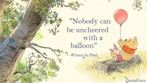 Nobody can be uncheered with a balloon   Winnie the pooh