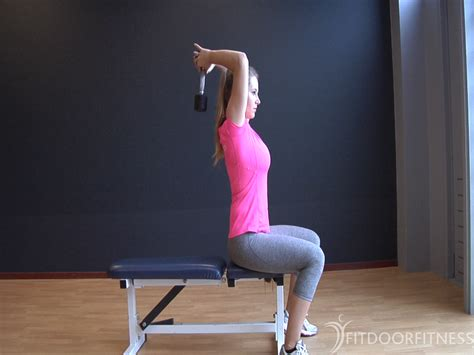 Seated dumbbell triceps extension - Armen, Fitness oefeningen