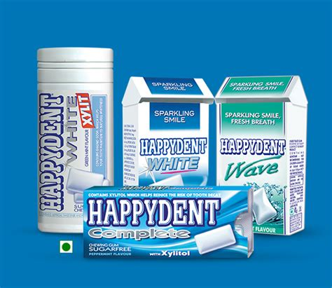 Happydent Flavours India   Happydent Complete, White, Wave