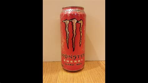 Monster Energy Ultra Red Review - YouTube