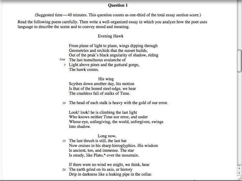 AP Lit Poetry Essay lesson Part 1: Reading and analyzing