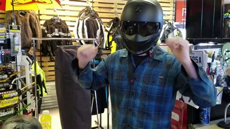 Scorpion Covert Helmet by Rave X used with glasses - YouTube