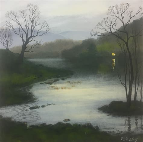 Twilight at Rydal Water - SOLD   Cook House Gallery - Lake