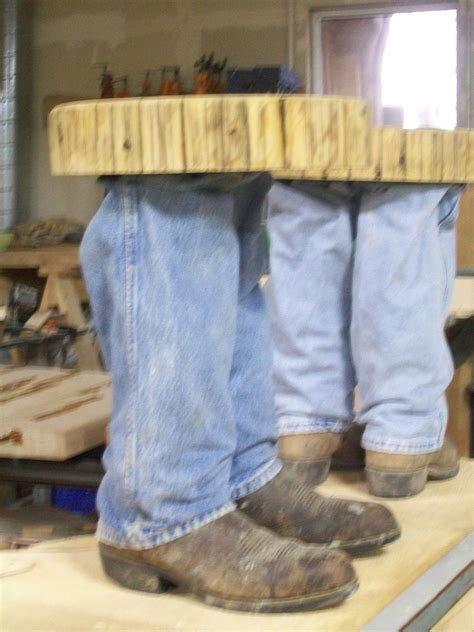 Hand Made Cowboy Boot Table by Fbt Sawmill & Custom Wood