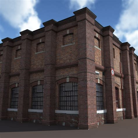 Old Factory Low Poly 3d Building by Cerebrate   3DOcean