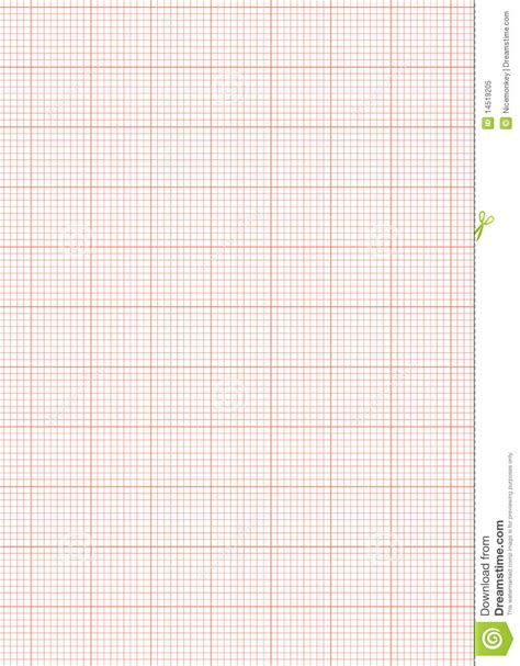 Graph Paper A4 Sheet Red Royalty Free Stock Photo - Image
