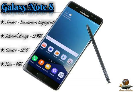 Samsung Galaxy Note 8 Specifications, Features, and Design