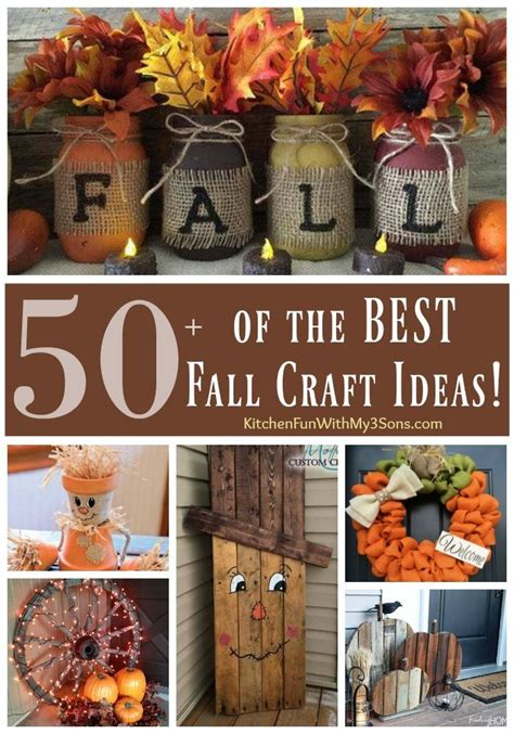 Over 50 of the BEST DIY Fall Craft Ideas   Diy fall crafts