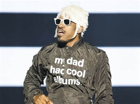 Andre 3000's weird blonde wig at Bestival