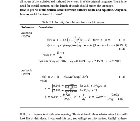 align - Table containing multiple equations - TeX - LaTeX