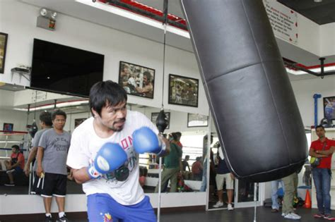 IN PHOTOS: Manny Pacquiao begins training for Mayweather fight