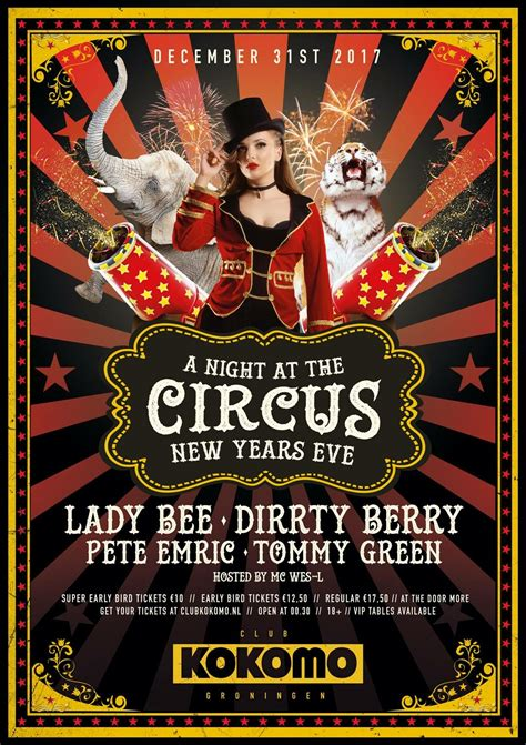 A Night At The Circus NYE - Tickets, line-up & info