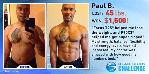 """""""FOCUS T25 and P90X3 Helped Me Get Super Ripped!"""" 