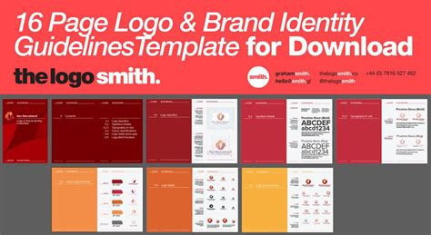 14-16 Page Logo & Brand Identity Guidelines Template for
