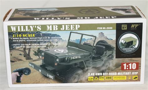 JJRC Q65 RTR 1/10 Scale Willys MB Military Jeep Review