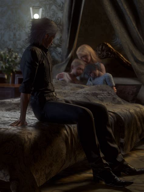 """""""Precious"""" Noctis and Lunafreya (and their children) from"""