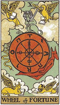What does the Wheel of Fortune tarot card mean? Tarot