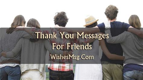 Thank You Messages For Friends - Sweet Notes & Quotes